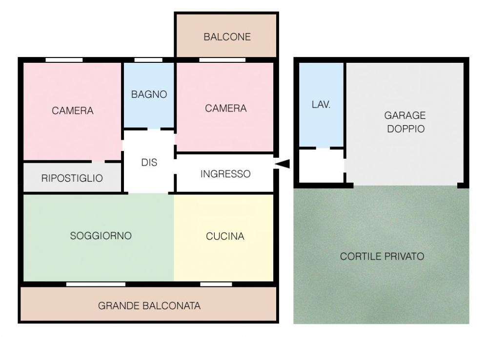 Vendita trilocali in vendita per acquisto a gardone val for Casa moderna gardone